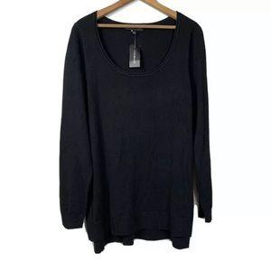 LANE BRYANT Sweater Black Scoop Neck NWT 14/16